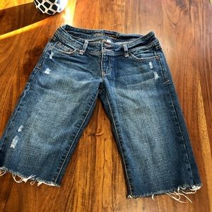 Abercrombie & Fitch knee length denim shorts